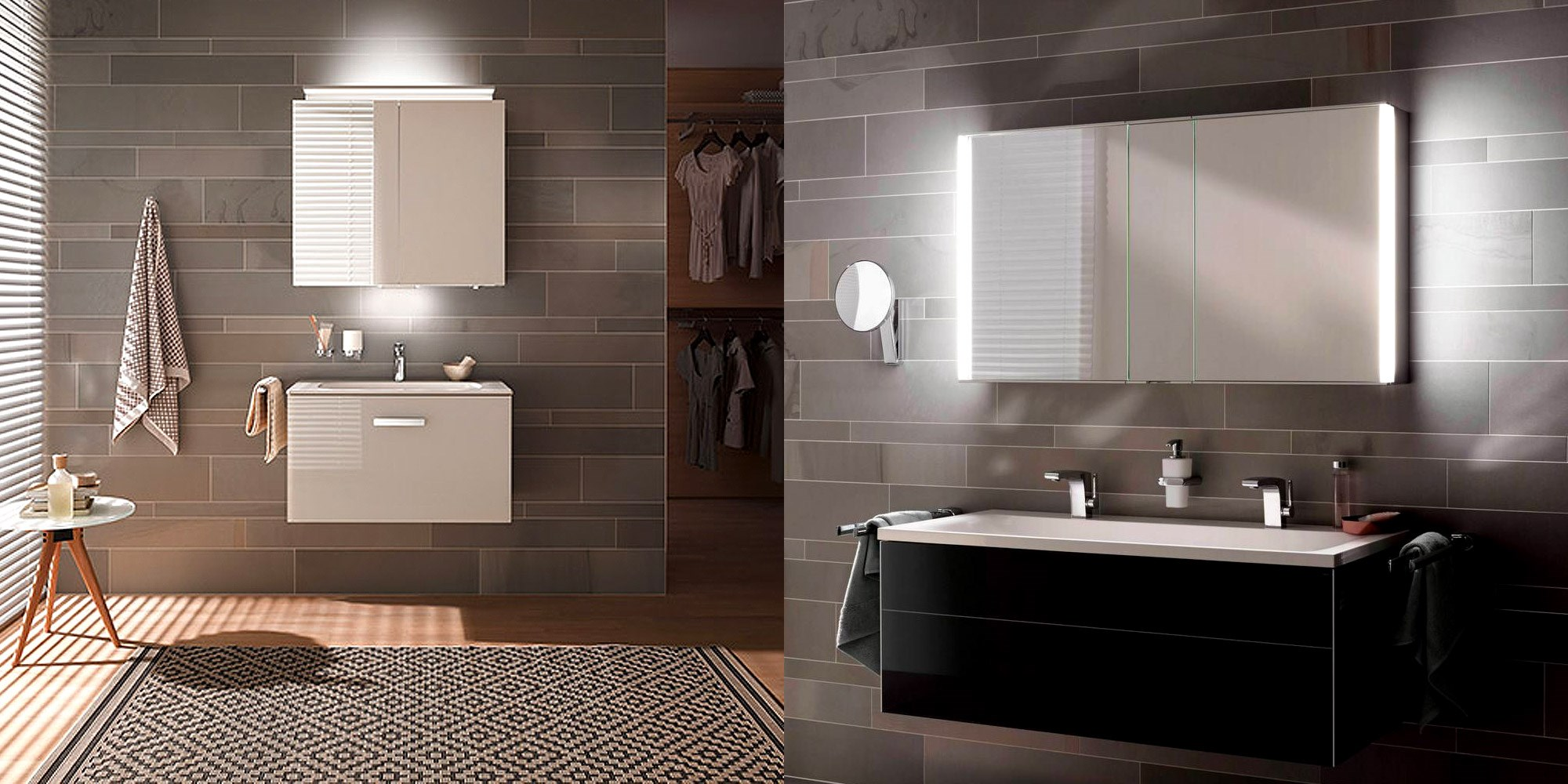royal l1 cabinet and mirror left royal match illuminated mirror right by keuco bathrooms - Bathroom Cabinets Keuco